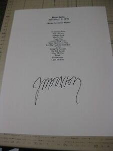 Jim Morrison signed 1970 doors setlist Reproduction
