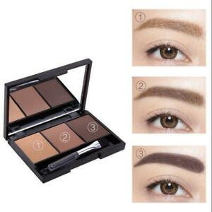 Ladies 3 Colour Eyebrow Compact Powder Sculpting Pallet Kit With Angled Brush
