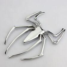 HOT Universal Metal Spider Shape Emblem Chrome 3D Car Truck Motor Decal Sticker