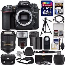 Nikon D7500 Wi-Fi 4K Digital SLR Camera Body with 18-300mm VR Lens + 64GB Bundle