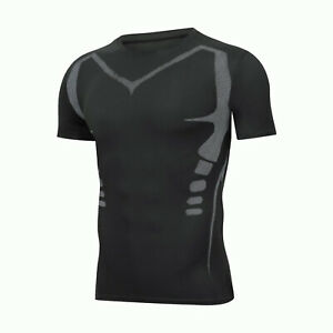 Men Sportswear T shirts Running Shorts Gym Compression Tights Long Pants Shirts