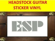 ESP SILVER MIRROR HEADSTOCK STICKER GUITAR PRODUCT ON SALE UNTIL END OF STOCK