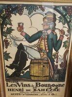 Original LG. Framed Vintage Poster - Arnoux Guy -Nuits Saint Georges -1930
