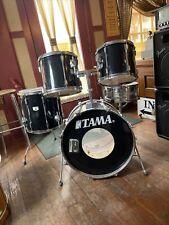Tama Rockstar DX BLACK  Drum kit  MIJ Japan Vintage COMPLETE 5pc