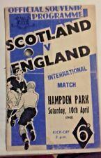 More details for scotland v england international match programme saturday 10/4/1948 hampden park