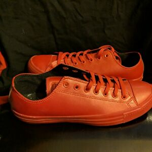 CONVERSE RED  LOW TOP RUBBER 👠 SHOES MENS 10 BRAND SPANKING NEW! GIVEAWAY $$