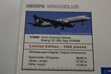 Herpa Wings CLUB 1:500 North American Airlines B757-200 Obama 08 (518680)