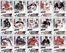 2008-09 UPPER DECK MVP MARKED BY VALOR COMPLETE 15 CARD INSERT SET LOT Mint BV