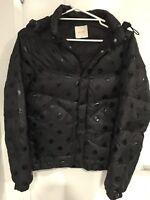 Gorman Black Dot Puffer Jacket Coat - Size 10