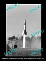 OLD LARGE HISTORIC PHOTO CUXHAVEN GERMANY THE WWII V2 ROCKET LAUCH c1945 2