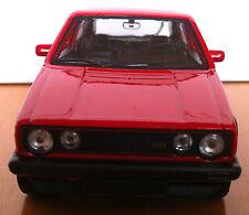 Modellauto VW Golf I   GTI  Rot/ Rückzugmotor / Druckgussmodel 1:38 OVP Welly