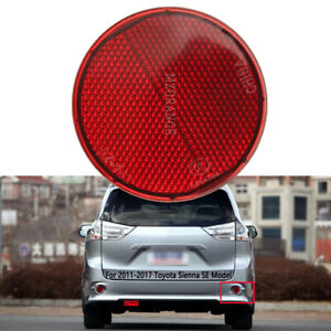 Bumper Reflector Rear Right/Left Light For Toyota Sienna SE 2011 12 13 14-2017