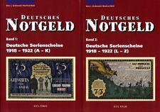 Deutsches Notgeld Band 1+2 Serienscheine 1918-22 Katalog Bewertung Geld Buch