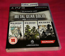 METAL GEAR SOLID HD COLLECTION CLASSICS HD PS3 TRES BON ETAT VERSION UK