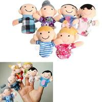 6Pcs Family Finger Puppets Cloth Doll Baby Educational Hand Toy Story Kids Gift