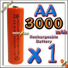 1 AA LR6 3000mAh NiMH Rechargeable Battery Orange C3