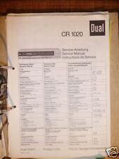 Service-Manual für Dual CR 1020  Receiver,ORIGINAL