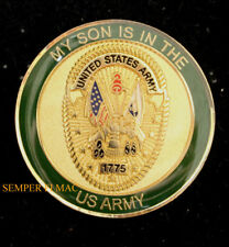 MY SON IS IN THE US ARMY PIN STEP MOM DAD FATHER BASIC TRAINING GRADUATION GIFT