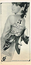 PUBLICITE  1966   HOKI  chausures 3 modèlesi