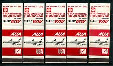 5 Streichholzbriefskelette AUA Jets fliegen mit Aero-Shell    5/2/14