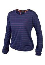 Women's Oakley Back Bay L/S Top Shirt Fiery Red Blue Black Size S M L