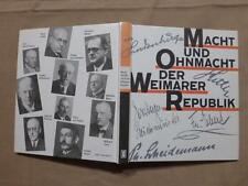 Potere e Onmacht della Repubblica di Weimar, Haufe Berlin 1. Aufl. 1990