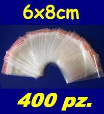 6x8 cm buste bustine zip plastica SACCHETTI 400 pz.