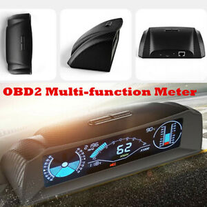 OBD2 Heads Up Display Vehicle Car Speed Compass HUD Slope Meter Monitor System