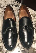 Allen Edmonds GRAYSON Tassel Loafer Black Leather sz 10.5 D EUC