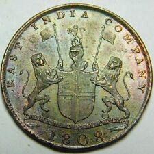 British East India Company 1808 X  Cash UNC??Brown  A47-694