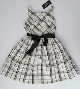 NWT Ralph Lauren Girls Fit & Flare Tartan Plaid Party Dress 7 8 10 12 14 16 $75