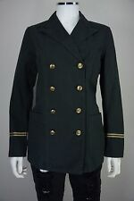 Polo Ralph Lauren Military Theme Womens Size 8 Black Double Breast Blazer Jacket