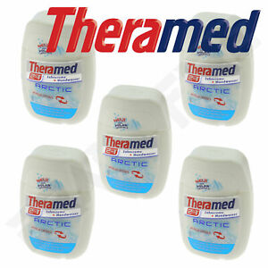 5 x THERAMED - Arctic White 2in1 Toothpaste & Mouthwash  15ml Travel Size