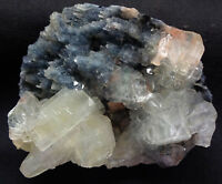 Apophyllite Cubes W/ Stilbite On Coral Chalcedony Format Base #6.7.