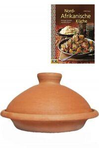 Marokkanische Marrakesch Tajine Tagine Ton Topf zum Kochen + Rezepte Kochbuch
