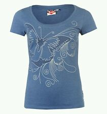 "Ladies LEE COPPER Glitter T-Shirt - Denim Marl - Size 14 L Bust 38"" *PRETTY*"