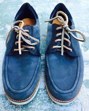 CLAE NICHOLSON Lace Up shoes Vibram Soles Blue Suede Mens US size 8