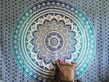 Couverture indienne Tenture éléphants et fleurs de lotus rose 235x200cm