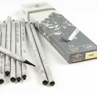 12Pcs Set Lotory Charcoal Pencil Black bold carbon core Peel and Sketch Charcoal