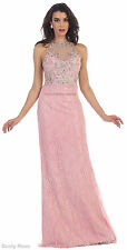SALE !! NEW SPECIAL OCCASION PROM LACE EVENING GOWN GALA FORMAL RED CARPET DRESS