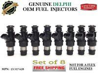 OEM DELPHI #25317628 [99-06 Chevy Silverado 1500 5.3L] 8x Rebuilt Fuel Injectors