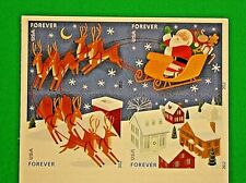 Stamp Collectors: Santa Sleigh Forever Stamp (Booklet, USA, 2012, Scott 4712-15)