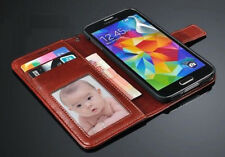 ETUI PORTEFEUILLE CUIR SAMSUNG Galaxy S4 S5 S6 / EDGE/ PLUS + 1 Film★LEATHER