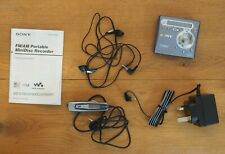 More details for sony walkman minidisc player / recorder mz-g750 + remote, power suppy & phones