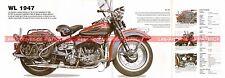 HARLEY DAVIDSON WL 750 1947 Fiche Moto 000492