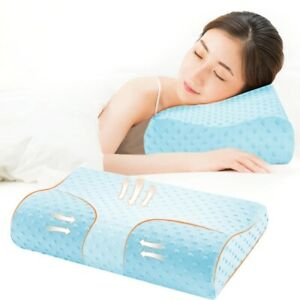 Memory Foam Pillow Bed Orthopedic Massage Sleeping Neck Pain Relief Bambo pillow