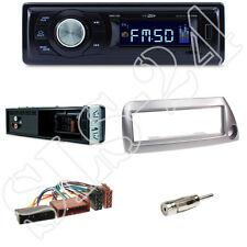 RMD021 Caliber Autoradio + Ford KA(RBT) 09/96-08/08 Blende silber + ISO Adapter