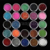 24Pcs/Set Mixed Glitter Tattoo Loose Powder Eyeshadow Eye Shadow Cosmetics US
