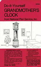 """Nps Woodworking Pattern B2036 Grandmother's Clock 70"""" Tall Unused"""