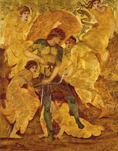 Edward Coley Burne Jones Cupid's Hunting Fields Poster Giclee Canvas Print